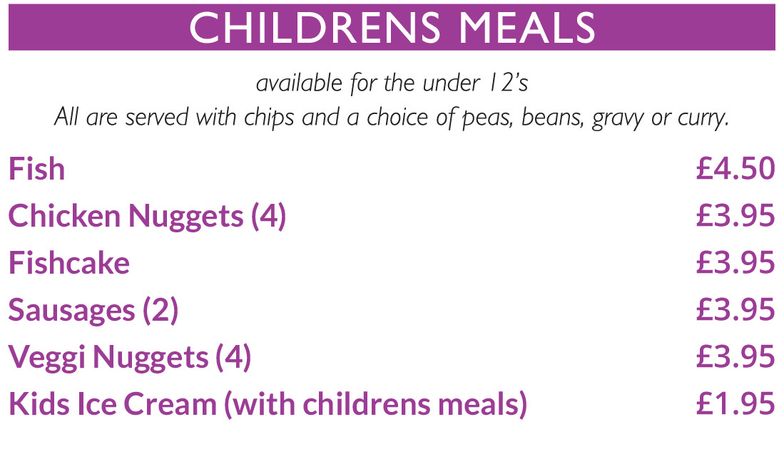 Blakeleys Childrens Menu